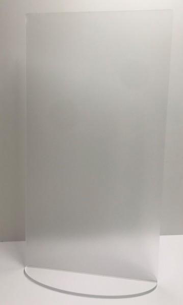 Niesschutz stehend senkrecht | 45 cm breit ohne Ausschnitt | bedruckt