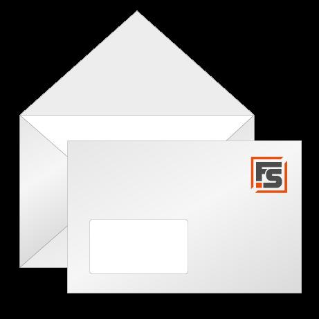 Briefumschläge mit Fenster einseitig (4/0)