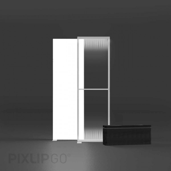 PIXLIP GO | Lightbox 85 cm x 225 cm indoor | beidseitig