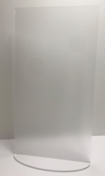 Niesschutz stehend senkrecht   45 cm breit ohne Ausschnitt   unbedruckt