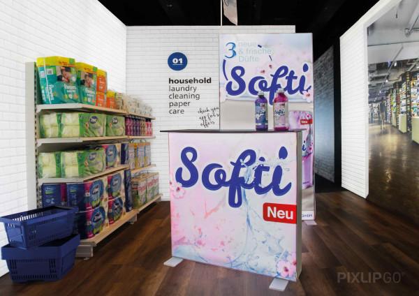 PIXLIP GO | Counter 100 cm x 100 cm indoor | beidseitig