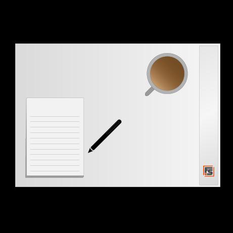 Schreibtischunterlagen 80 g/m² Offsetpapier weiß