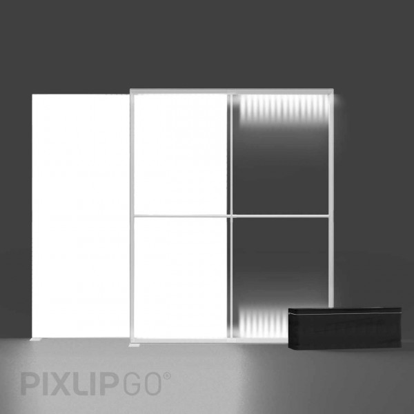 PIXLIP GO   Lightbox 200 cm x 225 cm indoor   einseitig