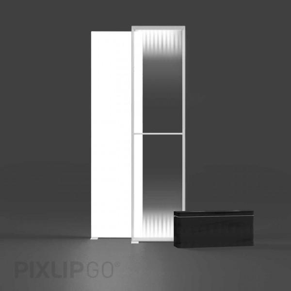 PIXLIP GO | Lightbox 85 cm x 250 cm indoor | beidseitig