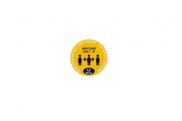 Aufkleber Abstand | Standard gelb | rund 29 cm